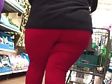 Big Hips and Ass BBW in Red