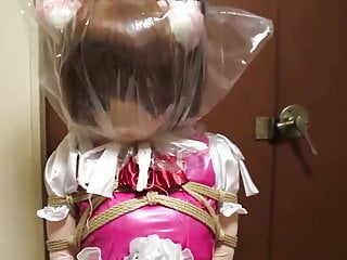 kigurumi bondage chair and breathplay.