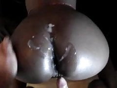 South African Black Bitch Takes Some White Cock
