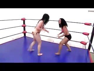 Lesbians Brunettes Big Tits video: Femwrestle thigh jiggle
