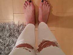 Nicole sexy Füße Casting 3