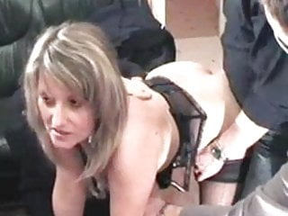 Gangbang Amateur French video: French slut christina in gang bang