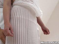 Nerezové mormonské babe bouchlo zezadu a stříkalo se