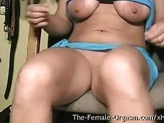 MILF with Big Tits and Fleshy Wet Pussy Masturbating Selfie