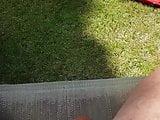 Hubby in garden