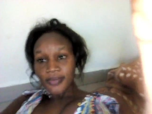 My African girlfriend video of her sucking her tits