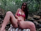 Camgirl in the woods