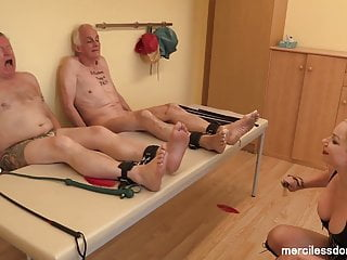 Bdsm Femdom Spanking video: Feet Torture - Morning Warm-up for Slaves with Mistress Inka