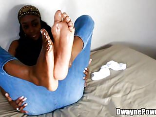 Beautiful Black Chick's Feet