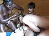 Wife and Husband Invited Shy Black Girl in Sauna