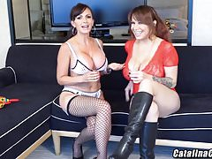 Alyssa Lynn shares hard dick LIVE on webcam Catalina Cruz