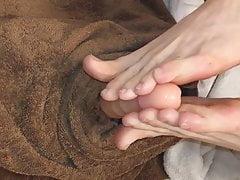Dildo Masturbazione con i piedi