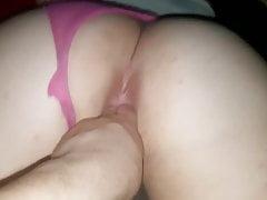 pawg rosa Spitzenhöschen spielen
