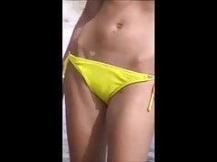 sexy mamuśki krocza strzał szpieg 180, camel toe, luźne bikini