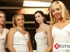 Lesbiche fantastiche ragazze europee innamorate - round 1