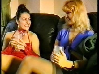 Interracial Vintage British video: CLAUDIA with white British lesbian girl