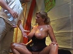 Marina German MILF Big Saggy Tits Blowjob