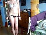 Sweet German teen gf undresses 2
