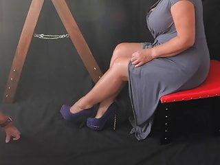 Bdsm Femdom Cfnm video: Sissy Slave Humiliation - Leg Humping for Mistress