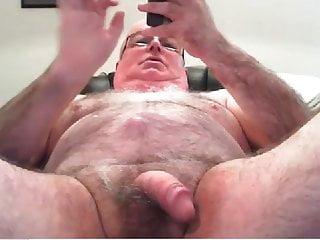 .grandpa cum on webcam.