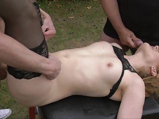 Gangbang Swingers Slut video: Busy amateur slut gangbanged by plenty of men