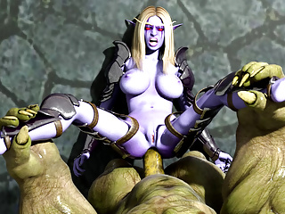 Porno video: Brutal Goblin fucks imprisoned Elf Princess's ass. 3D Hentai