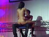 busty babe gives hot dildo lapdance