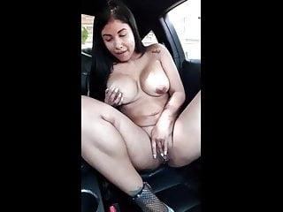 Latina Masturbates in Public