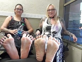 27 and 48 women show soles and toes