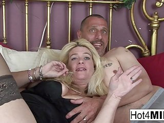 Big Tits Mom Hd Videos video: Blonde MILF lets him cum in her pussy