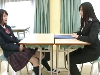 Lesbians Asian Japanese vid: Little Asian Schoolgirl Thoroughly Dominates LesbianTeacher
