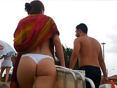 Bikini espion et voyeur fesses et string chaud