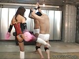 Japanese Domina who is face sitting and whipping attack