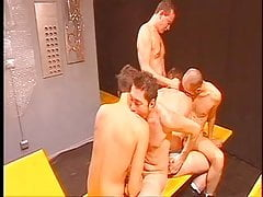 Group of twinky men fucking
