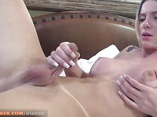 Masturbation Shemale Big Tits Shemale Hd Videos video: Big ass Taissi Fontini strokes big dick til cumshot on thigh