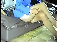 cleaning the floor-Homemade Amateur Video