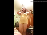 Arab Horny Chubby Girl Dance in Yellow