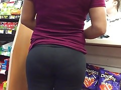 Hot Lil Latina Ass in Black Spandex