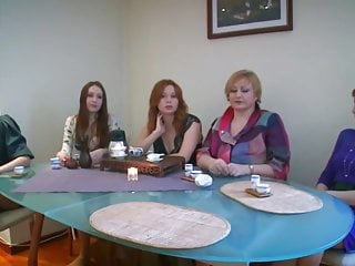 Redhead Mom video: Russian squeezing sexy babe teaches cocksucking mature women