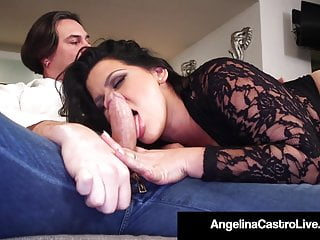 Big Tits Big Ass Threesome video: Cuban BBW Angelina Castro Has Threesome With Roberta Gemma!