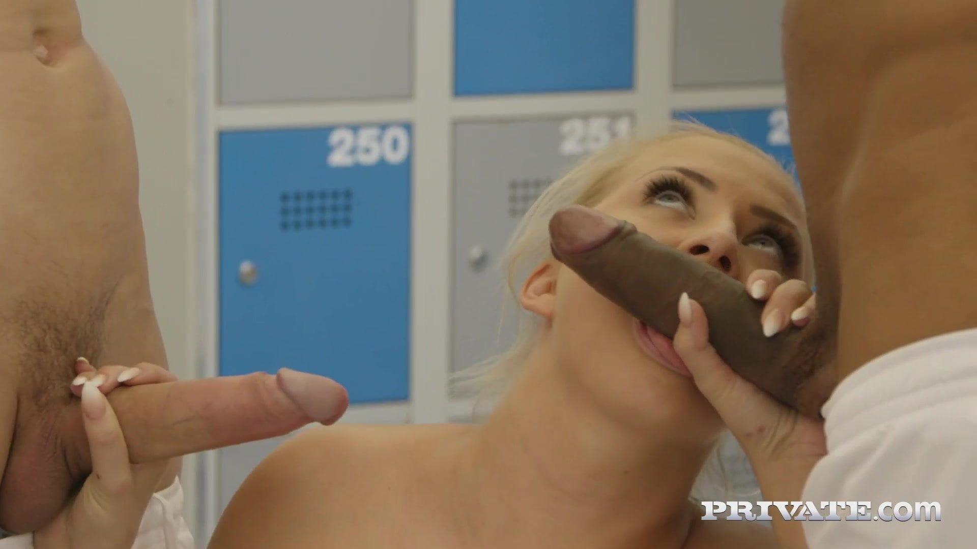 .Private.com - Ana Rose & Cayla Lions Do Locker Room Orgy!.