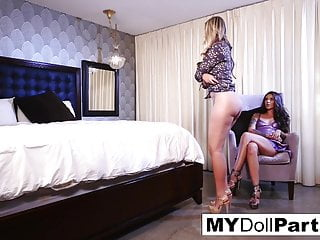 Pornstar Lesbian Hd Videos video: Kayla Jane Danger plays the good wife with Allie Eve Knox
