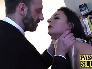Bdsm Blowjob Big Cock video: Insatiable Brit sub gets dominant cock deep inside her ass