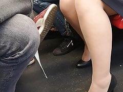 NYLON-SPY 01. Rajstopy Voyeur w metrze.
