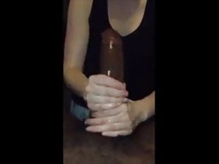 Blowjob Big Cock Handjob video: Wife make him cum hard #4