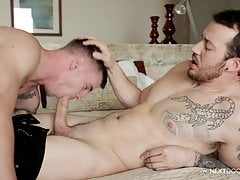NextDoorBuddies Tatted Big Dick Boys Having Bareback Sex