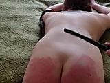 white feminist spanked by her brown master