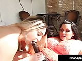 Cock Hungry Nina Kayy StrapOn Fucked By BBW Angelina Castro!