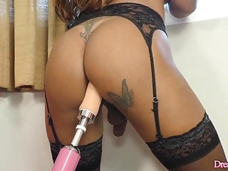 Latina Tranny Yasmin Fontes Has Her Ass Reamed by a Fucking