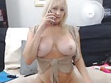 Busty mother with sexy lingerie gives the hottest sex phone